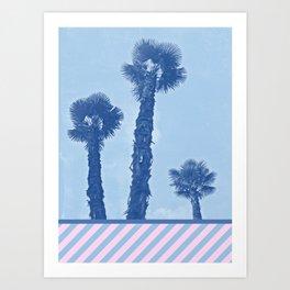 Palm trees - Winter in Opatija #3 Art Print