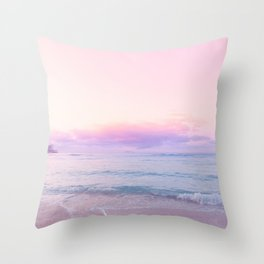 tropical,tropical ver.pink Throw Pillow
