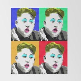 Marilyn Jong Un x 4 Throw Blanket