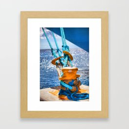 Vibrance On the Sea Framed Art Print
