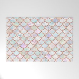 Pastel Memaid Scales Pattern Welcome Mat