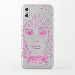 Barbarella Space Princess Clear iPhone Case