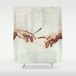 Adam and The God Shower Curtain