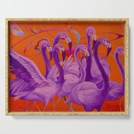 Purple Flamingo Serving Tray