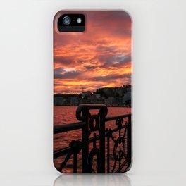 Romantic Sunset View iPhone Case