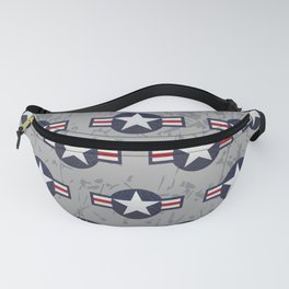 U.S. Military Aviation Star National Roundel Insignia Fanny Pack
