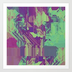 Glitchy 1 Art Print