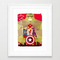 superheros Framed Art Prints featuring maravilosos by danvinci