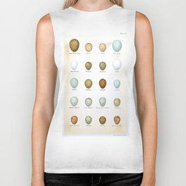 Vintage Bird Eggs  Biker Tank
