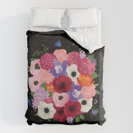 floral topiary Duvet Cover