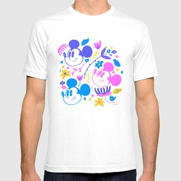 """""""Mickey Mouse Floral Pop"""" by Jenny Chang-Rodriguez T-shirt"""
