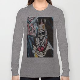 Las Vegas Skull Graffiti Long Sleeve T-shirt