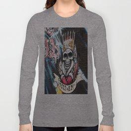 Las Vegas Skull Graffiti Long Sleeve T-shirt