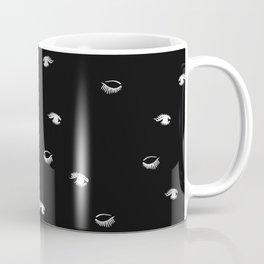 Twiggy Eyes Black N White Coffee Mug