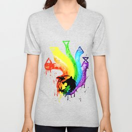 Rainbow Witch Unisex V-Neck