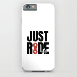 I just want to ride my bike tees, ride bike fun iPhone Case