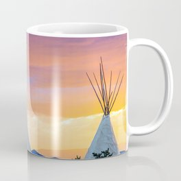 Dual Teepees With Southwest Sunset Coffee Mug