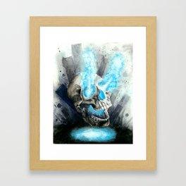 Energy Skull Framed Art Print