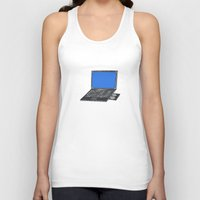 notebook Tank Tops featuring LAPTOP NOTEBOOK NETBOOK by Sofia Youshi