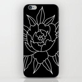 Black-and-white peony iPhone Skin