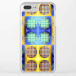 Many soft dots ... Clear iPhone Case