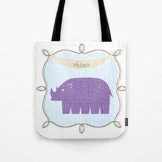 Fun at the Zoo: Rhino Tote Bag