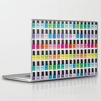 nail polish Laptop & iPad Skins featuring Pantone color Nail Polish Spring color by MiartDesignCreation