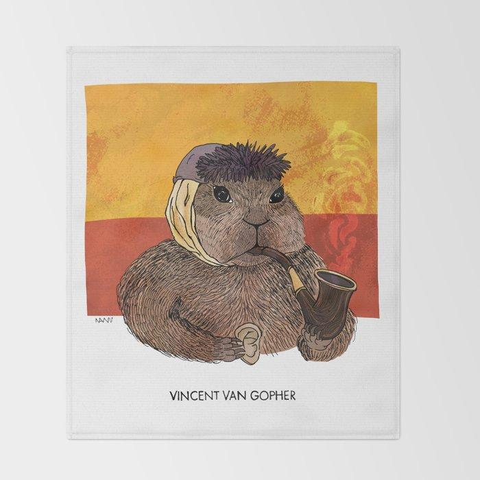 Vincent van Gopher Throw Blanket