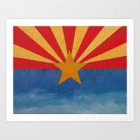 arizona Art Prints featuring Arizona by Michael Creese