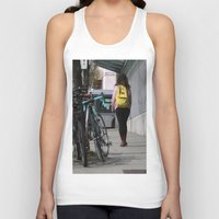 backpack Tank Tops featuring Bikes and backpack by RMK Creative
