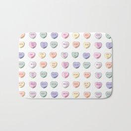 Candy Hearts Bath Mat