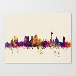 San Antonio Texas Skyline Canvas Print