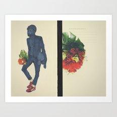 Beating Hearts Flattened In Books Art Print