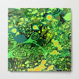 "Green Mind Flow no.2 8 x 8"" Metal Print"