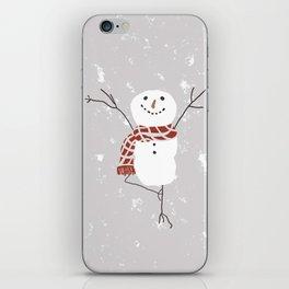 Snowman yoga - the tree iPhone Skin