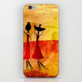 Africa retro vintage style design illustration iPhone Skin