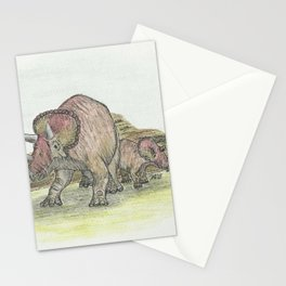 Pachycephalosaurus in Graphitint & Ink / Line + Wash Stationery Cards