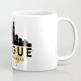 PRAGUE CZECH REPUBLIC SILHOUETTE SKYLINE MAP ART Coffee Mug