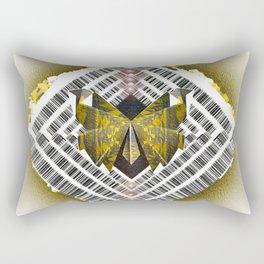Ancient Future Butterfly Shield Mandala Rectangular Pillow