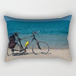 bike on the beach Rectangular Pillow