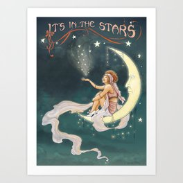 It's In The Stars – Gypsy Moon Art Print
