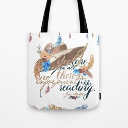Jane Austen - No Enjoyment Like Reading Tote Bag