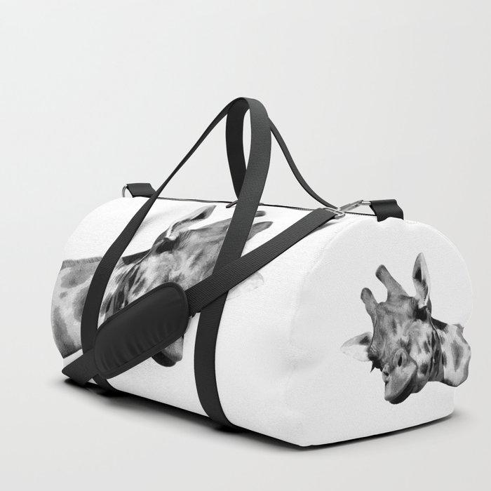 Black and white giraffe Duffle Bag
