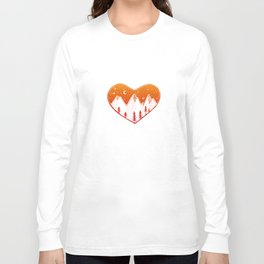 Heart In The Mountains - Warm Palette Long Sleeve T-shirt