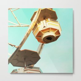 Ferris Wheel CU Square Metal Print