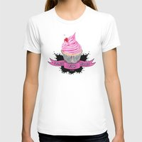bands T-shirts featuring Bands for Boobs Cupcake Logo by Bands for Boobs