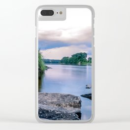 Long Exposure Photo of The River Tay in Perth Scotland Clear iPhone Case