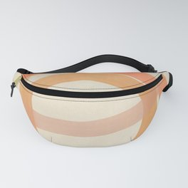 Coral Lines #1 - Modern Abstract Print Fanny Pack