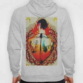 Burning tattooed heart Hoody