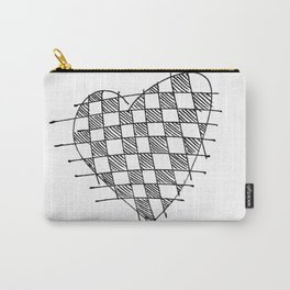 Checkerboard Heart Carry-All Pouch